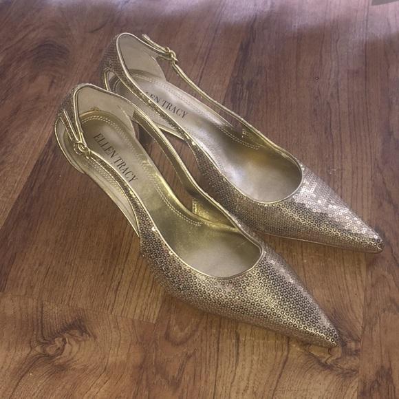 85552b5b06d2 Ellen Tracy Shoes - Women s Ellen Tracy sparkling gold Pumps size 7